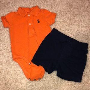 Ralph Lauren baby boy 3M polo & short set